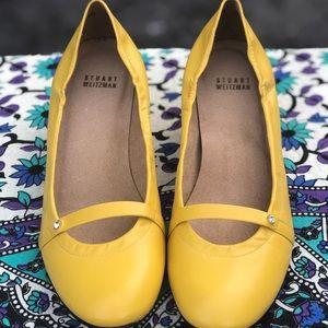Stuart Weitzman Yellow Heel